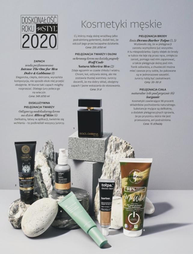 Doskonałość Roku 2020 TwojegoStylu, męskie, naturalne żele podprysznic 4organic
