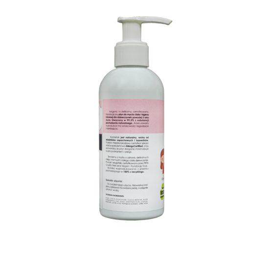 Płyn do mycia ciała i higieny intymnej Kids Dziewczynka 200 ml
