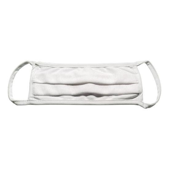 Maseczka ochronna biała z bawełny z jonami srebra