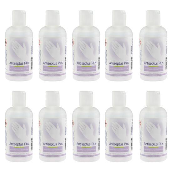 Zestaw Płyn do dezynfekcji rąk Antiseptus Plus 200ml - 10 sztuk