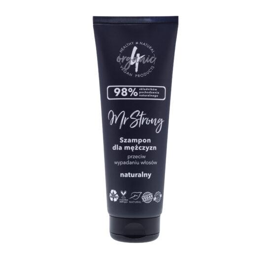 Szampon przeciw wypadaniu włosów Mr Strong o zapachu paczuli i drzewa sandałowego 250 ml