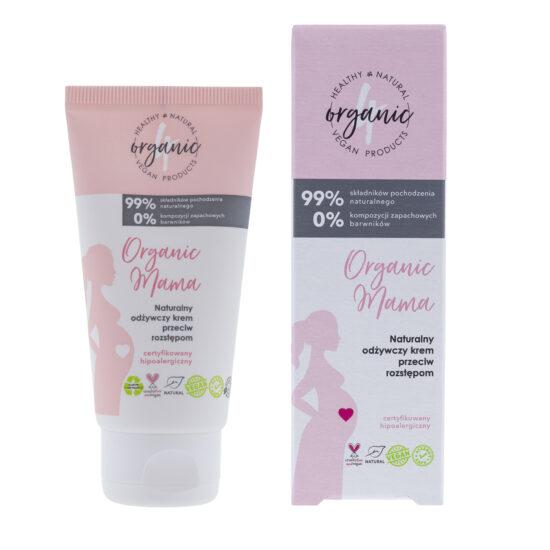 Naturalny odżywczy krem przeciw rozstępom Organic mama 50 ml