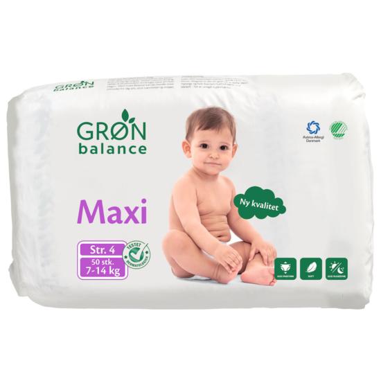 Gron Balance Pieluchy hipoalergiczne Maxi 7-14 kg 50 szt.