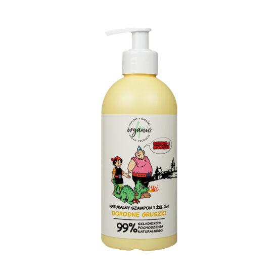 Naturalny szampon iżel domycia dla dzieci 2w1 Kajko iKokosz Dorodne gruszki