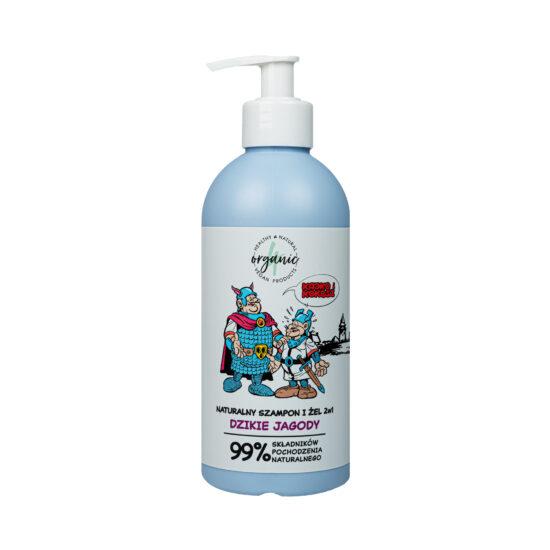 Naturalny szampon i żel do mycia dla dzieci 2w1 Kajko i Kokosz Dzikie jagody