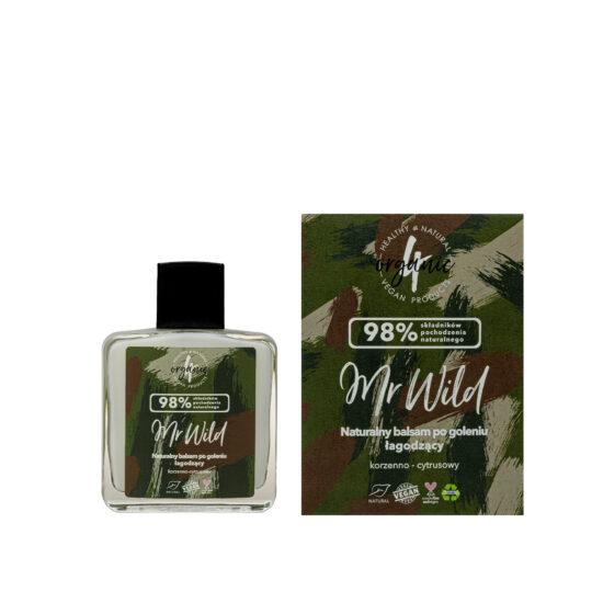 Naturalny łagodzący balsam pogoleniu Mr Wild korzenno-cytrusowy