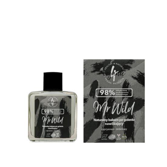 Naturalny nawilżający balsam po goleniu Mr Wild cyprysowo-imbirowy